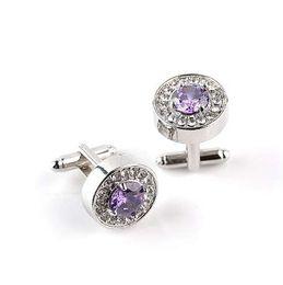 $enCountryForm.capitalKeyWord UK - Cufflinks arm buttons for mens business lawyer shirts Men's luxury round crystal rhinestone cuff links gemelos for sale jewelry