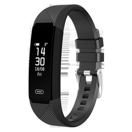 Chinese  2018 LY118 ID115 F0 Smart Bracelets Fitness Tracker Step Counter Activity Monitor Band Alarm Clock Vibration Wristband for iphone 8 X S8 S9 manufacturers