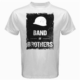 Vietnam White NZ - Band of Brothers war vietnam military army drama series Tshirt White Mens 2018 fashion Brand T Shirt O-Neck 100%cotton