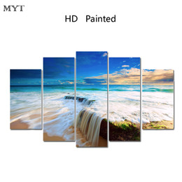 Free Canvas Prints Australia - MYT Free Shipping Hot Canvas Print Wall Paintings Decoration Maison Home Picture Oil Art Pictures Modular Painting wall art Modern 5 Pieces