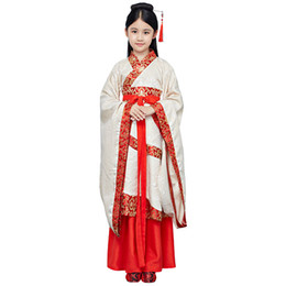 213a3b3850 Chinese National Clothes Ancient Han Dynasty Princess Robe Fairy Dress Baby  Girls Dance Performance Costume Cosplay Clothing