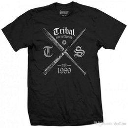 $enCountryForm.capitalKeyWord Australia - Cotton Shirts TRIBAL GEAR Original BAT BLADE T-Shirt Tee schwarz black Funny Crew Neck Short-Sleeve T Shirt