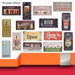 Discount Vintage Tin Signs Coffee Decor   2018 Vintage Tin Signs ...