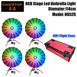Gigertop Tp-hu526 12w Rgb Led Umbrella Lighting Silver Color Reflector Surface Dmx Controller Box Build In Program Party Wedding Stage Lighting Effect