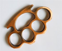 Fighting Australia - Wholesale Free Brass knuckles Knuckles Fist Fighting Equipment Outdoor Self-defense Supplies