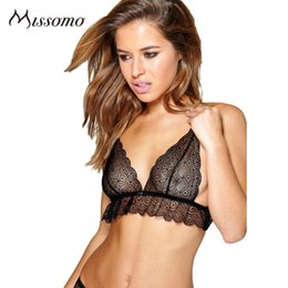 $enCountryForm.capitalKeyWord Canada - wholesale Sexy small breasted lingerie Black Lace bralette Bra Women Mesh Hollow Out Female Breathable Wire Free Underwears Lady