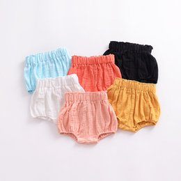 Baby Cotton Ruffle Panties NZ - Summer 2018 cotton baby shorts plaid kids hot sale shorts pants Cover Ruffled Panties For Baby PP Shorts Bloomers