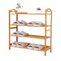 Опт Multi этажная мебель для дома обувной шкаф бамбук большой емкости минимализм твердой древесины оригинальность держатель организатор обувь стойки полка 56qw5 jj