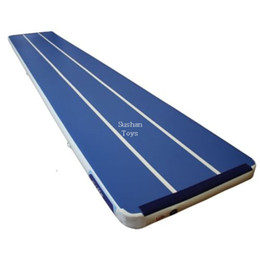 Pumping Water Air Australia - Free Shipping 7x1x0.2m Air Track AirtrackTumbling Mat with Free Pump for Home Use, Cheerleading, Water, Park and Beach