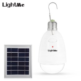 Solar Panels 12 Australia - Lightme 12 LEDs Dimmable Solar Panel Powered Light Lamp With Remote Controller Portable Rechargeable Outdoor Lighting Lights Free Shipping