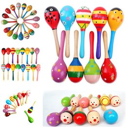 $enCountryForm.capitalKeyWord Australia - Educational Toys Hot Sale Baby Wooden Toy Rattle Baby cute Rattle toys Orff musical instruments sand hammer T5I125