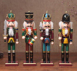 Discount nutcracker gifts wholesale - Hot 30cm Nutcracker Puppet Soldiers Home Decorations for Christmas Creative Ornaments and Feative and Parrty Christmas g