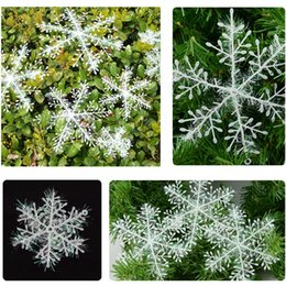 Snow Christmas Decor Australia - Christmas Decor Snow Flake Decorations For Christmas tree Snow String New Year decoration Ornaments Xmas Supplies 9ZHH075