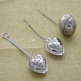 Wholesale 3 Style Tea spoon Heart Tea Infuser Heart Shaped Stainless Herbal Tea Infuser Spoon Filter Stainless Steel strainer Tools WX9