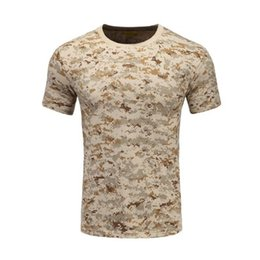 Chinese  XH024 Military Camouflage Clothing Sand Camo T-shirt 100% Cotton Custom Design Wholesale(Clothes color can be customized, cost the same) manufacturers