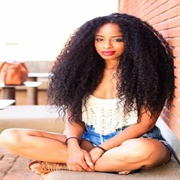 Top Curly Human Hair Wigs Australia - Grade 8A Top Quality Kinky Curly Full Lace Wigs Black Women 150 Density Brazilian Virgin Lace Front Human Hair Wigs With Baby Hair