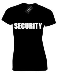 $enCountryForm.capitalKeyWord NZ - SECURITY LADIES T SHIRT FANCY DRESS FASHION UNIFORM BOUNCER POLICE TOP S-XXL