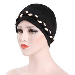 Braiding Hair Cap NZ - Muslim Indian Braid Chemo Hat Beanie Head Wrap Scarf Cotton Turban Headwear Skull Cap for Cancer Patients Hair Loss
