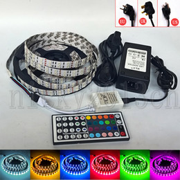 $enCountryForm.capitalKeyWord NZ - Full Kit 5M 5050 RGB LED Flexible Strip Light Tape 600LEDs Double Row Non Waterproof + 12V 8A Power Supply + 44Key Remote controller