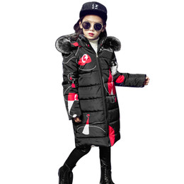 $enCountryForm.capitalKeyWord UK - Teenage Girls 2018 New Black Red Thick Coat Winter Wear Costume For Size 6 7 8 9 10 11 12 13 14 Years Child Casual Down Jackets