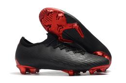 26749d7b5c422 Mens baixo tornozelo botas de futebol mercurial vapor xii elite se fg  chuteiras Superfly VI JD X PSG ACC Ultra chuteiras de futebol