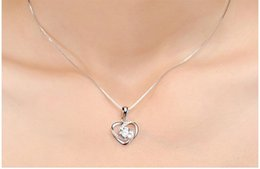 $enCountryForm.capitalKeyWord UK - 925 Sterling Silver Necklace Lady Heart Pendant Simple 100 - tie Clavicular Chain Japan - Korea Version Of Silver Accessories Cheap Pendant