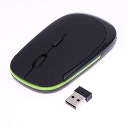Discount desktop gadgets - Wholesale- Mini Ultra-Slim 2.4GHz Receiver 1600DPI 10M USB Wireless Optical Mouse Mice For Macbook PC Laptop Desktop Mou