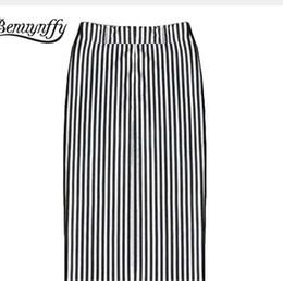 cbed6a01716ad6 Schwarzer weißer gestreifter bleistiftrock online-Beförderung! Verkauf neue  Mode schwarz weiß gestreift Büste Röcke
