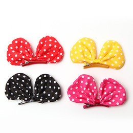 Dog Hair Clipping UK - 2018 Dog Grooming Pet hair clip Large wave point Bows Teddy Yorkshire Maltese flower Dog hairpin cute princess clip 10pcs lot