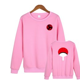China 2018 Latest NARUTO Design Unisex Hoodies Men & Women Ninja Capless Sweatshirt O-Neck 2XL Plus Size Pink Hoodie Brand Clothing cheap ninja gold suppliers
