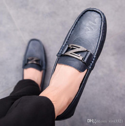 $enCountryForm.capitalKeyWord Canada - New men's genuine leather shoes trend wild personality peas shoe mens fashion four seasons youth casual shoes lazy drive shoe B31
