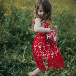 $enCountryForm.capitalKeyWord NZ - 2017 Christmas Girls Dress Red Leaves Hollow Lace Baby Girls Clothes Children Kids Wedding Dresses for 1-4T