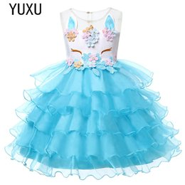 Girls Tassel Shirt Australia - Girl Fairy Unicorn Dress Junior Birthday Clothes Infantil Vestidos Kids tutu gowns For Wedding Ceremony christmas 2019 Party Clothing 3-8Y