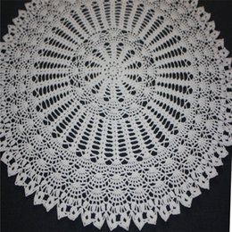 cotton rounds Australia - Large Crochet Doily, White Doily, Lace Round Doily, Cotton Decor, Lace Tablecloth, Table Topper, 20 inches