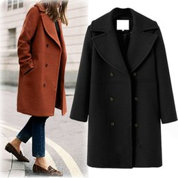 8bd43ae28faf 2018 EUROPE Fall Spring Cashmere Women Long Robe Coat Female Woolen  Outerwear Femme Abrigos Mujer Simple Design Free Shipping