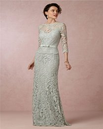 $enCountryForm.capitalKeyWord Australia - elegant light green long mother of the bridal dress 2018 appliques sleeves women formal evening gown for wedding party
