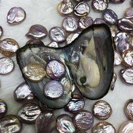 Venta al por mayor de NUEVOS trillizos 10-15 MM 3 Botones de Perlas de Moneda En Colores de Mezcla de Ostras de Agua Dulce Perlas Sueltas Para DIY Hacer Pulsera Collar Regalo de la joyería