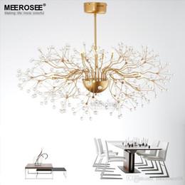 French Art Deco Lamp Australia - Vintage Glass Chandelier Lighting Floral French Glass Lustre Light Cristal Suspension Hanging Lamp MD2396 for Living room
