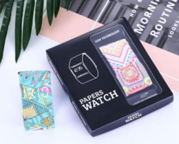 Package color watches online shopping - Smart Paper Watch Fashion Waterproof Magic LED Wristbands Watch with Package for Kids christmas Present wrist DHL