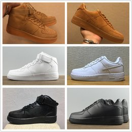 Discount sports hiking - 2018 Hot Classic forces wheat-colored White black High Quality Men Sports Sneakers Women Running Shoes Forcing skate Sho