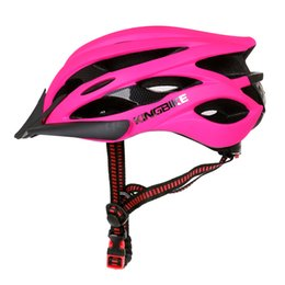 Chinese  KINGBIKE rose red helmet 235-245G light helmet mtb Ultralight man cycling specialed e casque velo road with visor manufacturers