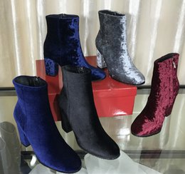 $enCountryForm.capitalKeyWord Canada - Femal Fashion Round Toes Ankle Boots Comfort Spring Autumn Martin Boots Chunky Heel Side Zipper Shoes Ladies Size34-40