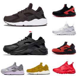 0cf1dede Nike air Huarache Новый классический стиль Air Huarache мужские кроссовки  Тройной белый черный белый все красное золото серый красный черный женщин  ...