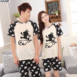 $enCountryForm.capitalKeyWord NZ - Low Price New 2018 Lovers Pajamas Women Long-sleeved Summer Thin Pajama Sets Men Pure Couple Pajamas For Men Set Sleepwear Suit