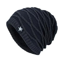926af403377 MIOIM Winter Autumn Star Knitted Hat Men Women Thick Fleece Warm Beanies  Unisex Soft Skullies Cap Hats Female Male Chapeau F3