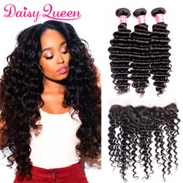 $enCountryForm.capitalKeyWord NZ - Ear To Ear 13x4 Lace Frontal Closure With 3 Bundles Brazilian Deep Wave Unprocessed Curly Virgin Human Hair Weaves Extensions 8A Grade