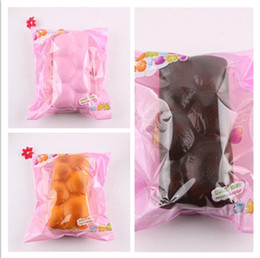 Squishy Charms Wholesale Australia - Squishy Bread Toy Squeeze Slow Rising Simulation Toast Bread Decompression Toy Home Decoration Phone Charms Kids Gift Toys
