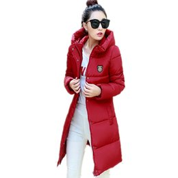 Wholesale elegant coat hooded for sale - Group buy New Korean Winter Women Coat Elegant Pure Color Thick Warm Hooded Cotton Jacket High Quality Large Size Women Coat LCY41