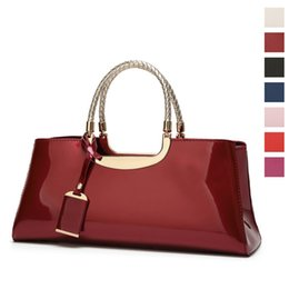 $enCountryForm.capitalKeyWord Australia - Red leather satchel tote handbags for women Split hand bags purse Top handle bag female elegant bag Sac A Main Shoulder Tote