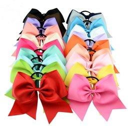 8inch cheveux solides de couleur arcs bandeaux filles hairband hairbow pour les cadeaux d'adolescents pour la couleur multi d'enfants en Solde